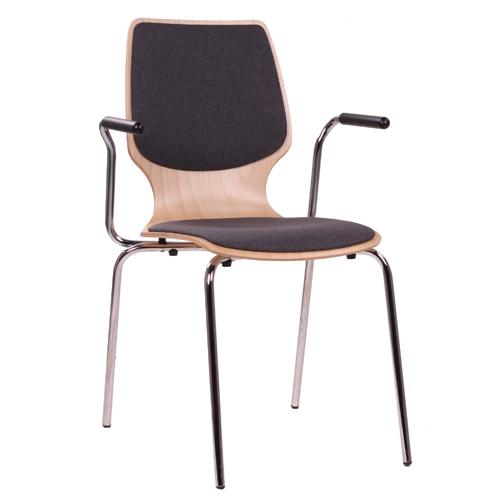 Kovové židle s loketní opěrou