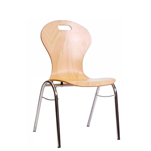 Kovoé stohovatelné židle