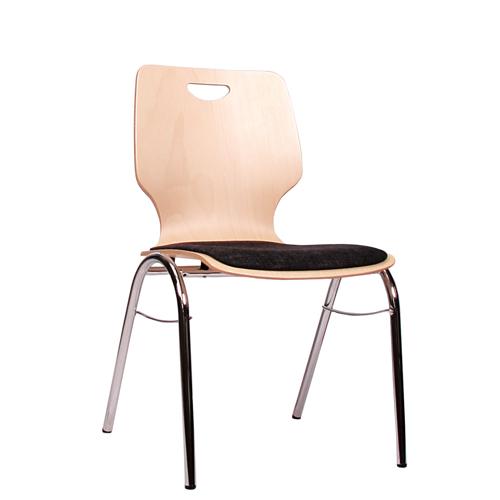 Kovové židle čalouněný sedák