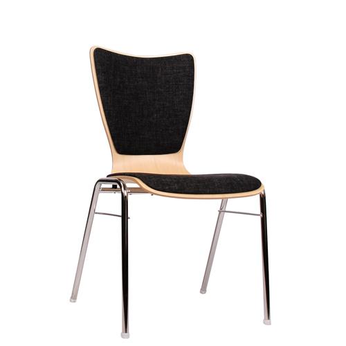 Čalouněné kovové židle