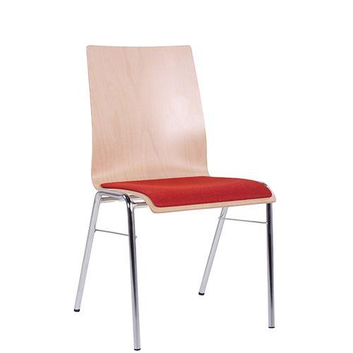 Kovová židle COMBISIT H44 SP čal. sedák- sada 20 ks
