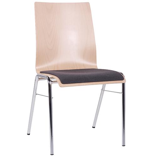 Kovoé konferenční židle čalouněný sedák