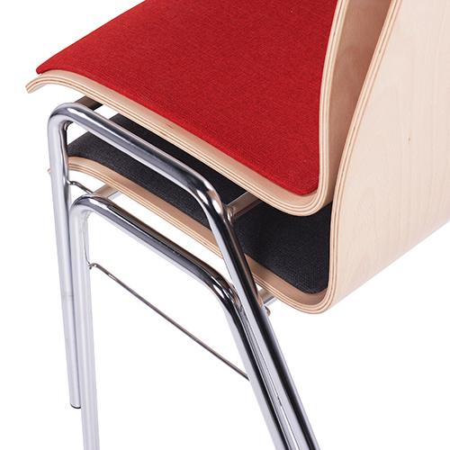Kovové židle s čalouněný sedákem