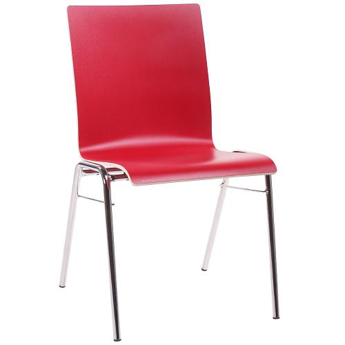 kovové židle možnost stohování a HPL sedák