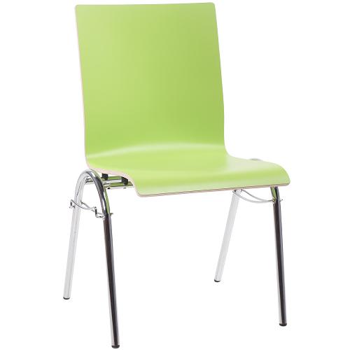 Kovové židle s HPL sedákem
