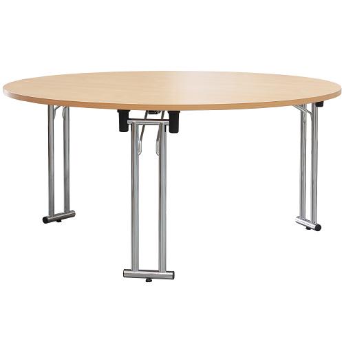 Kovové sklapovací stoly kulaté