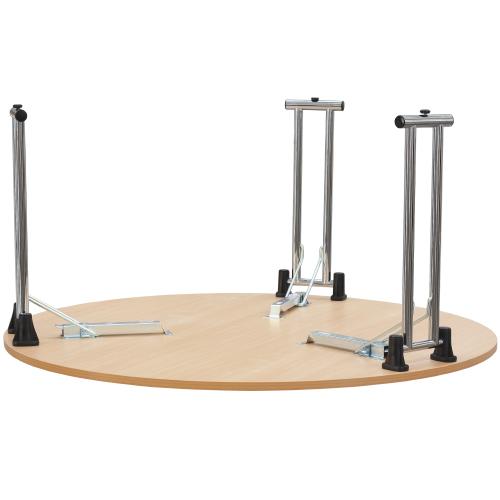 Kovové sklapovacie stoly okrúhle