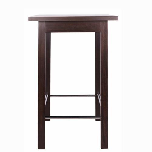 Dřevěné barové stoly s nerezovou konstrukcí