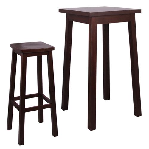 Barové dřevěné stolky