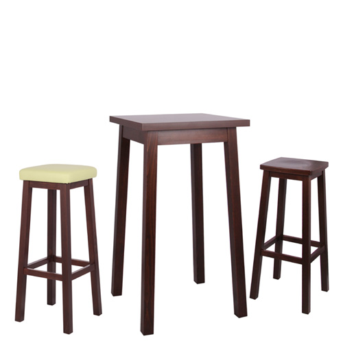 Dřevěné barové stoly a židle