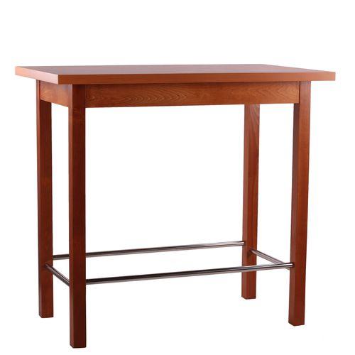 Dřevěné barové stoly s nerez příčkou