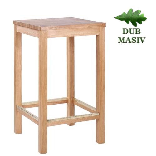 Barové stoly ARMANDO BAR dub masiv více rozměrů