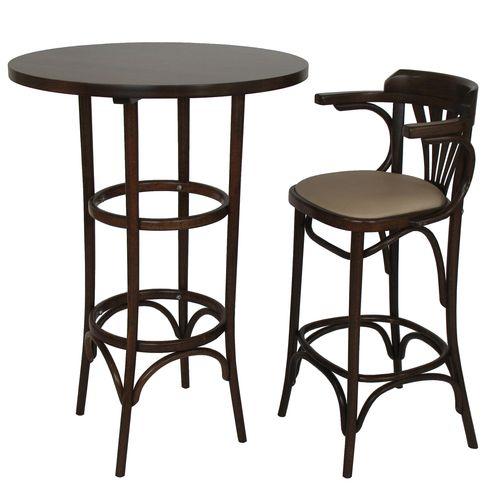 Dřevěný ohýbaný masiv barový stůl