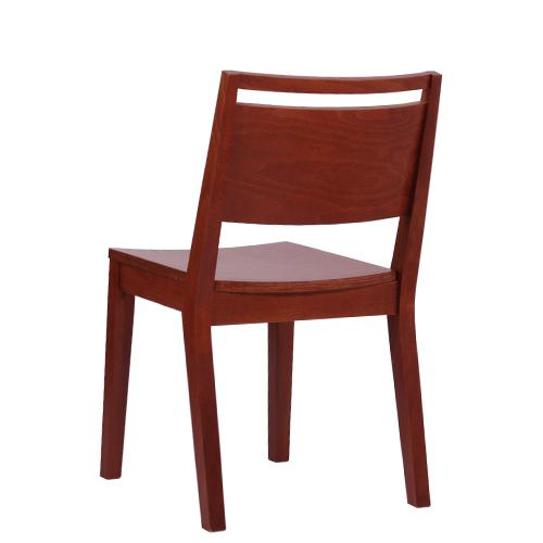 Restaurační židle s dřevěným sedákem