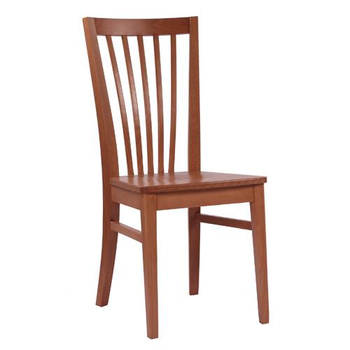 Dřevěné židle s dřevěným sedákem