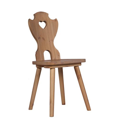 Dřevěné borovicové  židle
