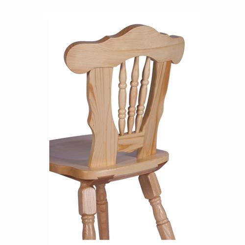 Židle borovice masiv
