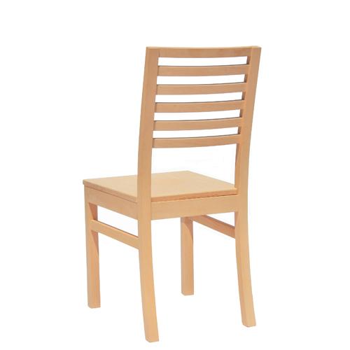 Pohodlné stoličky s dřevěným sedákem