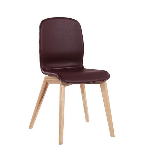 Dřevěná židle s čalouněným sedákem GLAMOUR UP W
