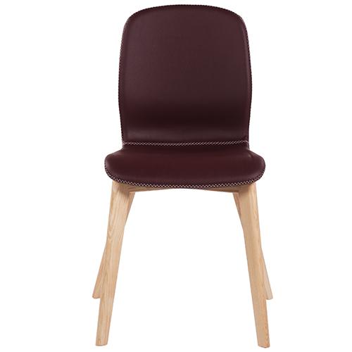 Dřevěné židle s čalouněným sedákem