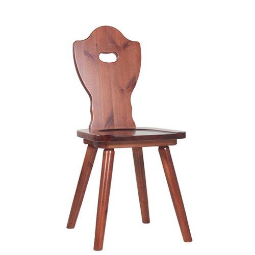 Dřevěná selské židle LOTTE ve venkovském stylu