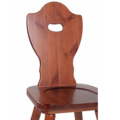 Drevené sedliacke stoličky LOTTE borovica masív