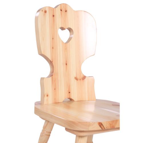 Dřevěná židle z borovicového dřeva