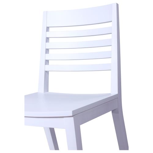 Dřevěné bistro židle bílé