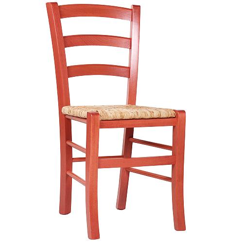 Drevěné farebné stoličky