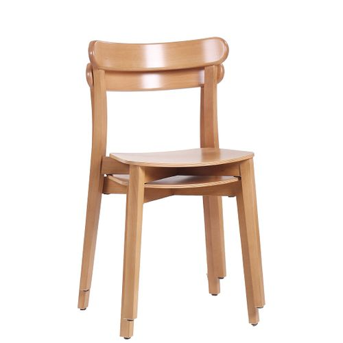 Dřevěné bistro židle LUKE s možností stohování