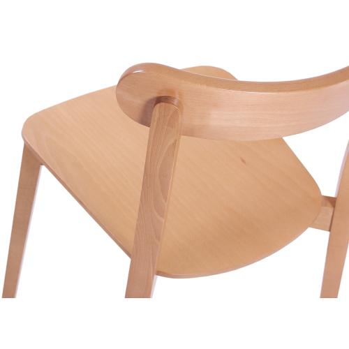 Dřevěné restaurační bistro židle