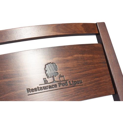 Logo laser židle restaurační