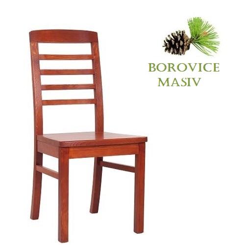 Dřevěná židle ROBBIE 4 borovice masiv pro restaurace