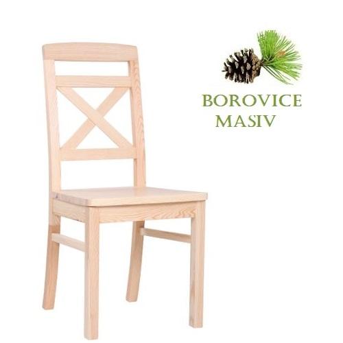 Dřevěná židle ROBBIE 2 borovice masiv pro restaurace