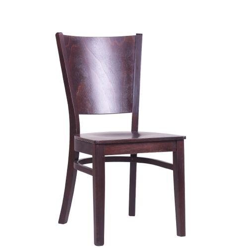 Dřevěné restaurační židle FAGO S barva tmavý ořech