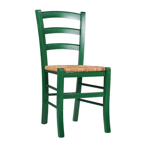 Borovicové židle s výpletem barevné