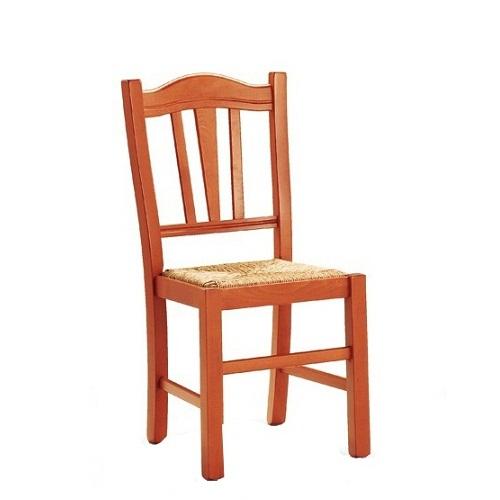 Dřevěná židle do restaurace s výpletem