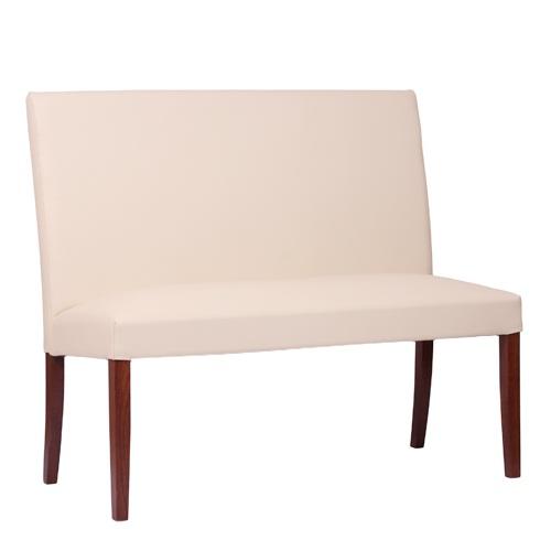 Dřevěná čalouněná židle THEA DUO lavice