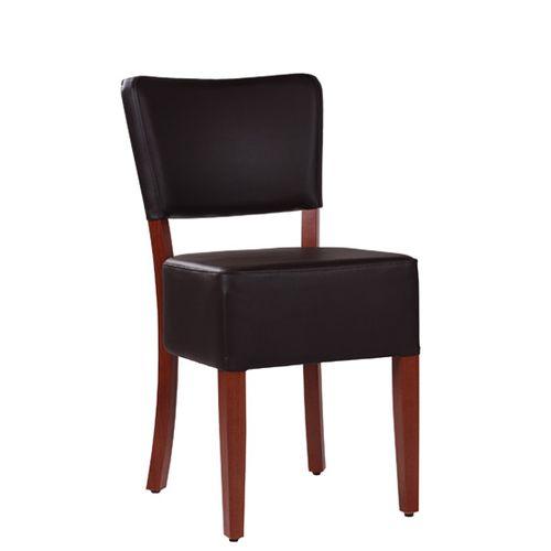 Drevená čalúněná stolička pre reštaurácie