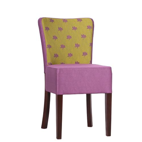 Dřevěné čalouněné židle do restaurací