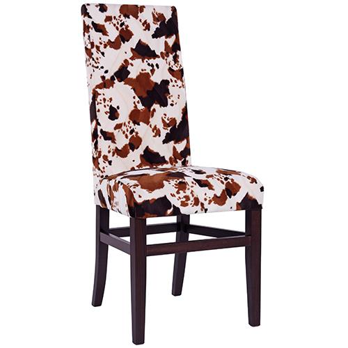 Imitace kráva čalouněné židle