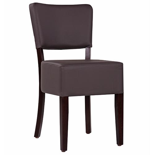 Dřevěné čalouněné židle do kavár ny