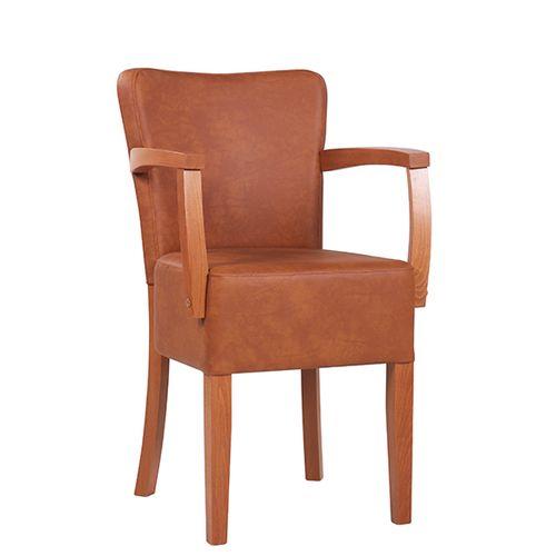 Dřevěná židle čalouněná TANJA AL E