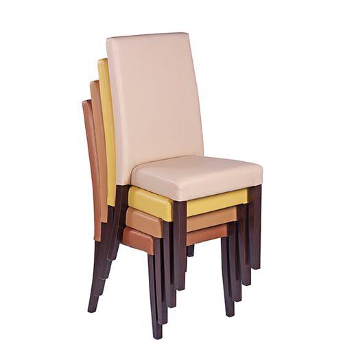 Dřevěné čalouněné židle možností stohování