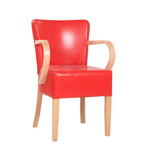 Dřevěné židle čalouněné TANJA XL AL S širší sedák