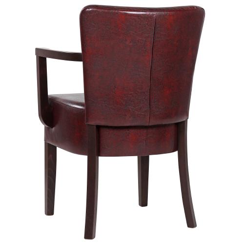 Čalouněné židle do restaurace s loketní opěrkou