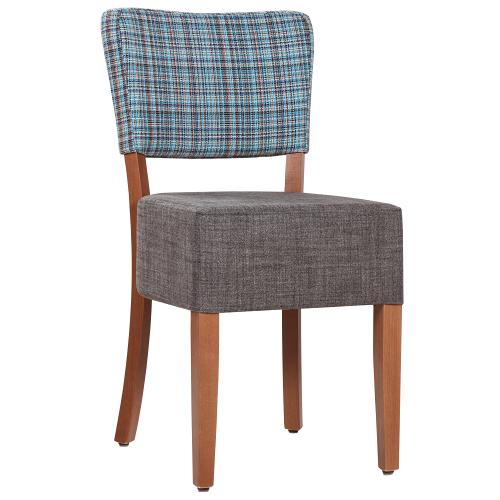 Dřevěné čalouněné židle do kavárny
