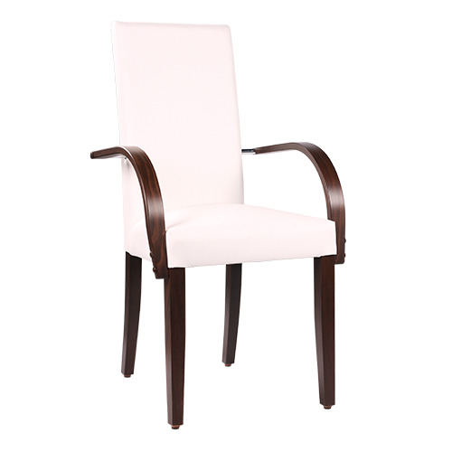 Čalúnené drevené stoličky pre reštaurácie