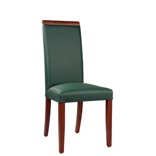 Dřevěná čalouněná židle LINDA dřevěné madlo