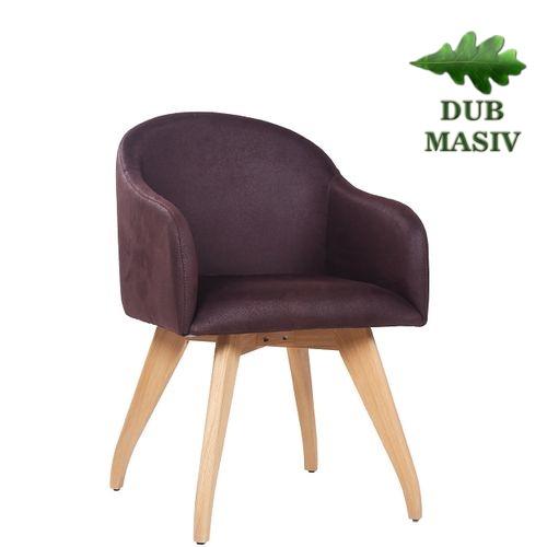 Designové restaurační čalouněné židle FABIO ve skandinávském stylu masivní dub